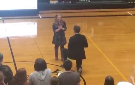 Simpson College lovebirds engaged after surprising proposal