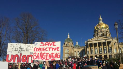 Education majors rally for collective-bargaining rights