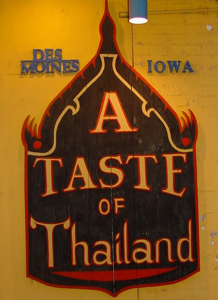 Taste of Thailand flavors Iowa with Oriental style