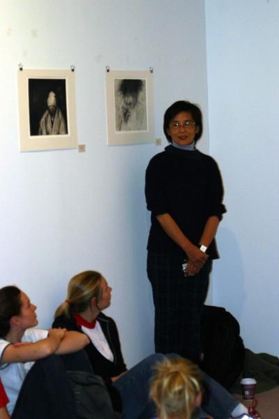 Kondo displays charcoal, ink, oil and pastel works