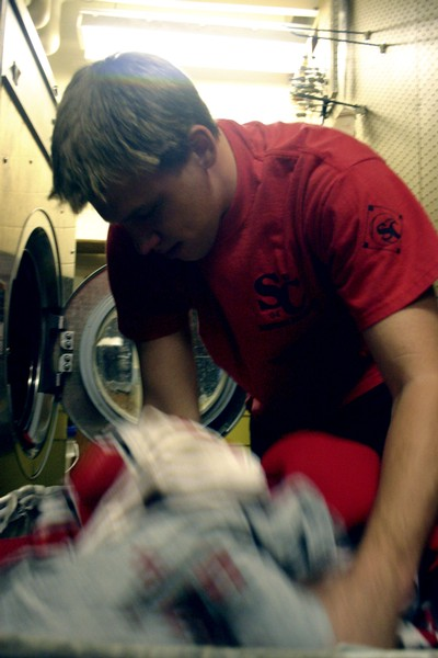 Equipment room workers dont mind airing dirty laundry