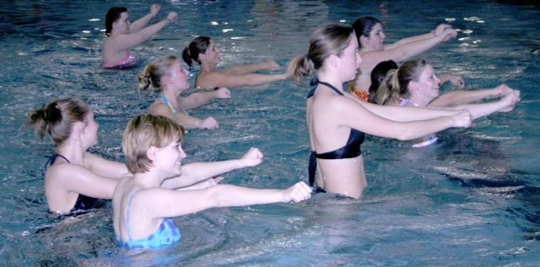 Water aerobics sees increased attendance