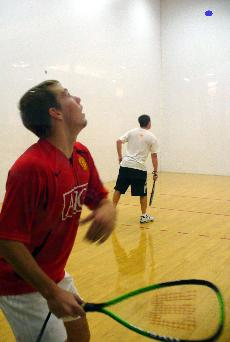 Racquetball courts see heightened use in winter months