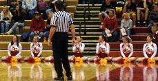 Simpson's cheerleading squad adds spirit to the court