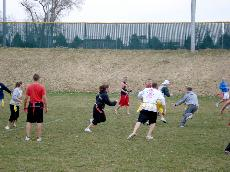 IM flag football turnout strong despite poor weather