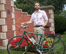 Junior makes trek to school by bike