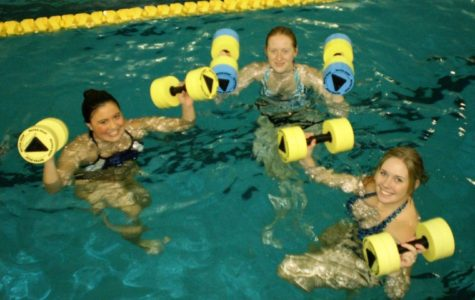 Water aerobics makes a splash