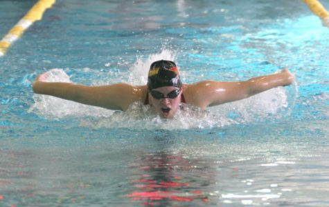 Swimmers make a splash in dual action