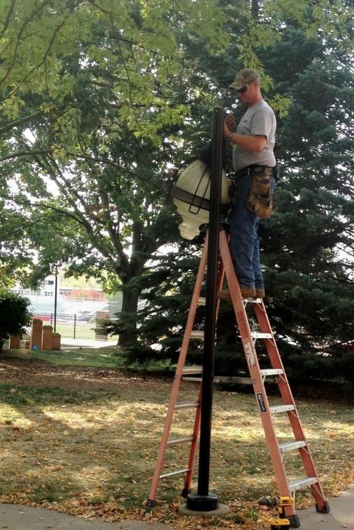 New lighting on campus expected to save money