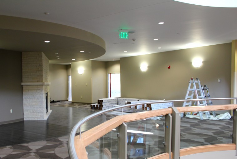 Campus center prepares to open