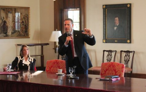 Presidential finalist Troha says he'll be visible on campus, committed to transparency