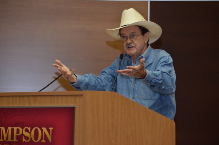Jim Hightower speaks to Simpson College, participates in Occupy World Food Prize