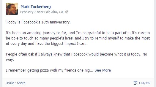 Nineteen-year old founder, Mark Zuckerberg gives his thoughts about FBs future