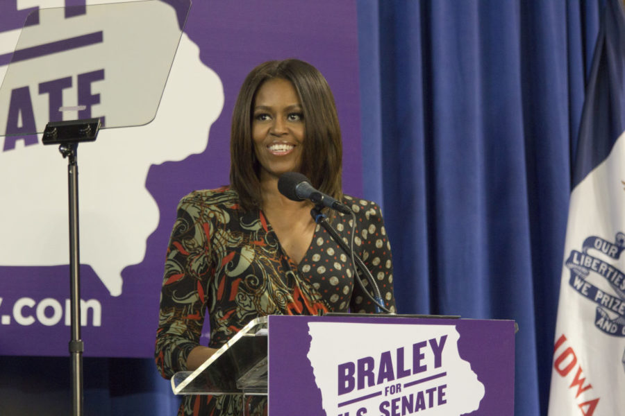 Michelle+Obama+visits+Iowa+to+support+Braley+campaign