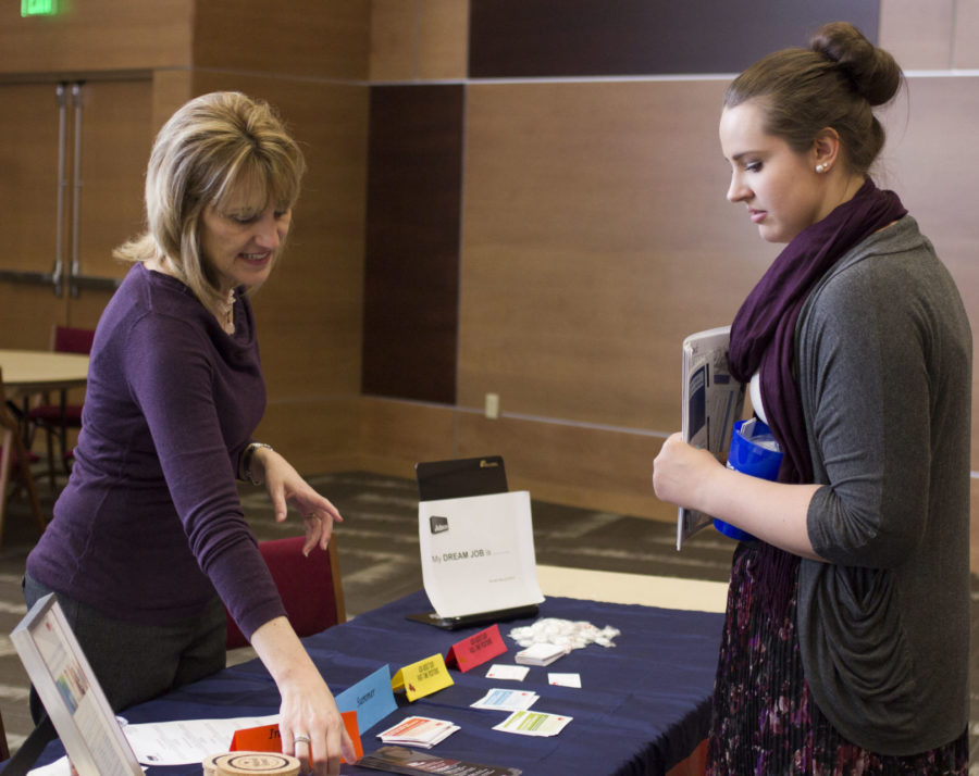 Seniors show campus support at Human Services Career Fair
