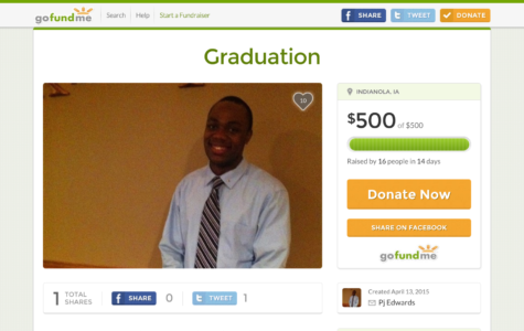Edwards raises $500 to fly his mom to Simpson College for his graduation