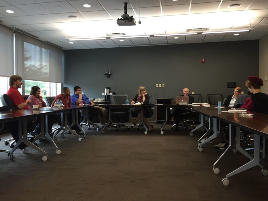 Higher Learning Commission evaluators visited for reaccreditation process for Simpson