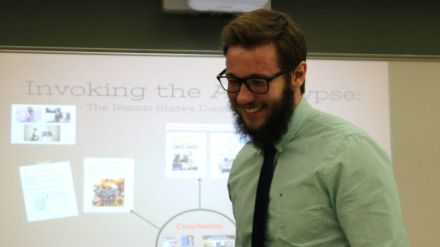 Simpson senior presents research on ISIS