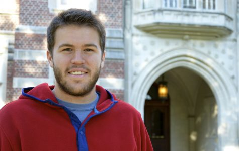 Senior Tanner Augustine has not had an easy transition, but with the support of friends and faculty, he has a full-time position after graduation at KPMG.