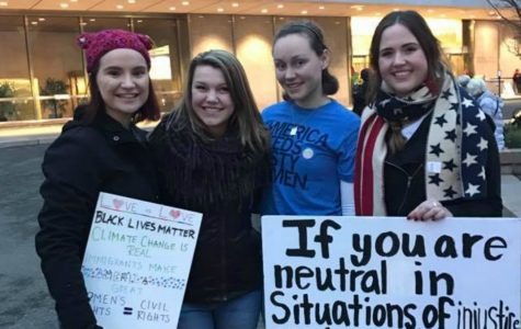 Students join worldwide protests, march for women's rights