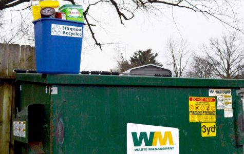 Are Simpson College students trashing the recycling program?