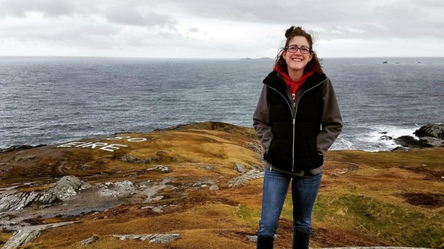 Senior Erin Thompson lives in a small Ireland town teaching elementary students, but still has time to immerse herself in the Irish culture and travel to the northernmost point of Ireland, Banba's Crown. (Photo: Courtesy of Erin Thompson)