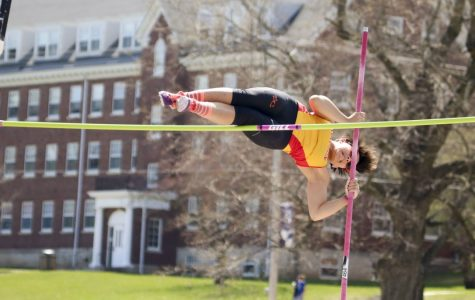 Pole vaulting requires speed, strength good technique