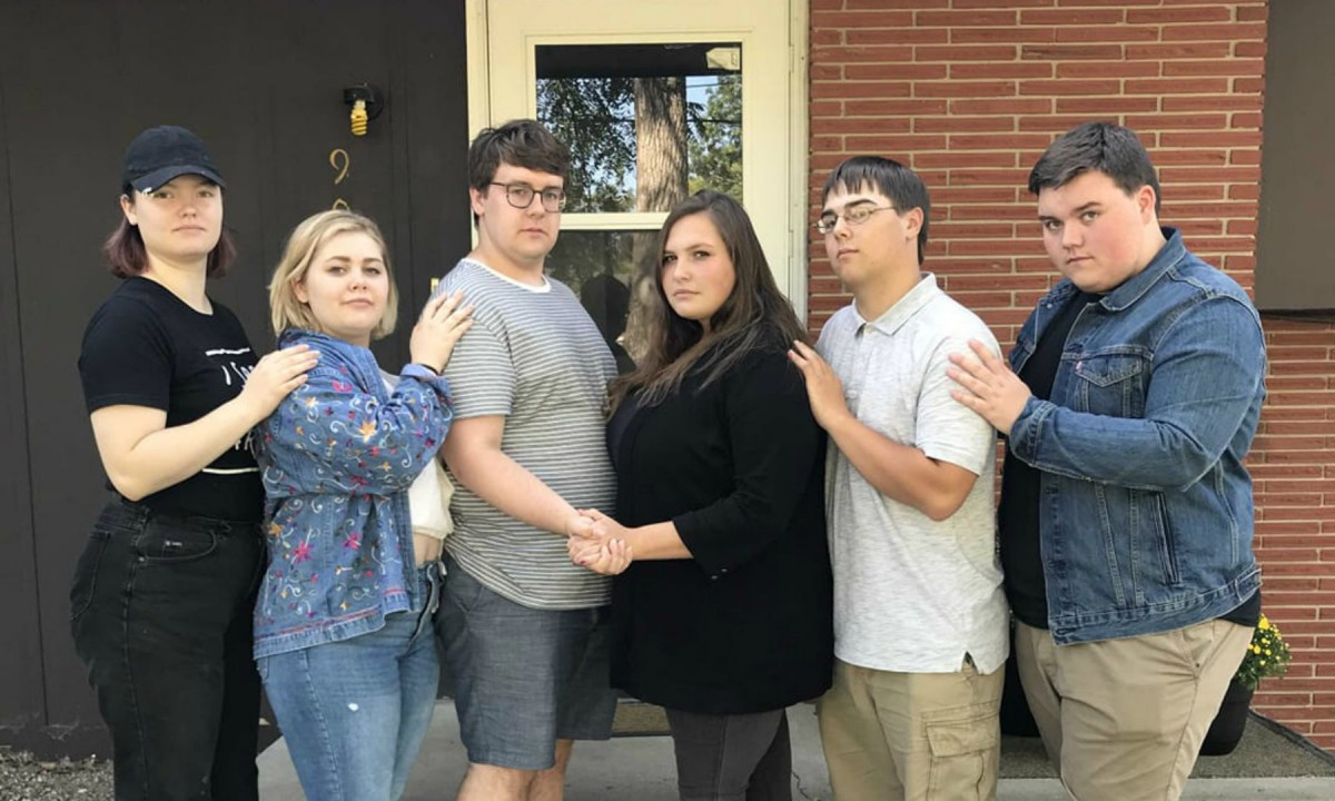 Left to right: Maslin Boten; Zoe Murphy; Jack Strub; Cierra Clark; Dallas Williams; Jared Campbell. Photo submitted by Jack Strub