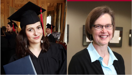 Left to right: Noémie Maurice, Fulbright Foreign Language Teaching Assistant for 2017-18; Sharon Wilkinson, professor of French. Photos submitted, courtesy of Simpson College