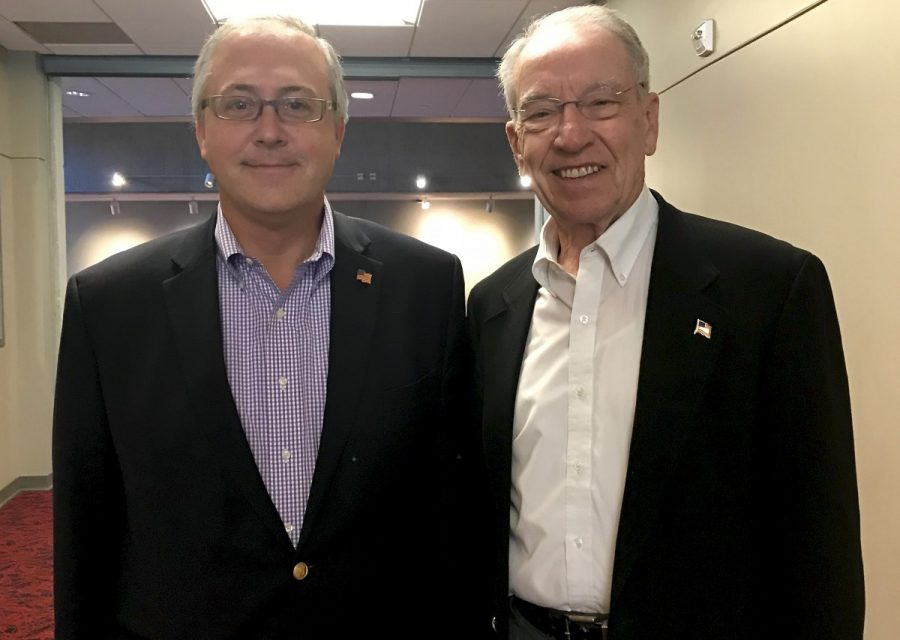 Young and Grassley talk policy, importance of voting