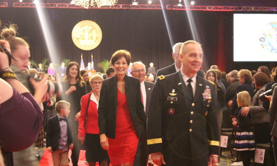 Gov. Kim Reynolds became Iowa's first female governor to be elected into office on Jan. 15.	Photo by Devon Wood/The Simpsonian