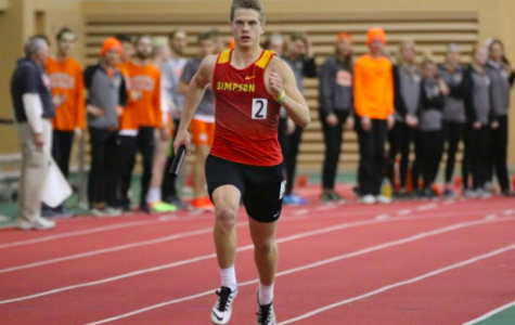 Senior Chase Wetterling is one of Simpson College's two-sport athletes. The criminal justice major plays football as well as track and field. Photo courtesy of Ruthi Wheatley