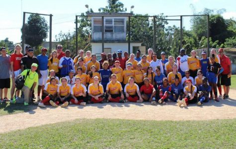 Simpson College's softball team traveled to Cuba over winter break, where they did volunteer work and faced off against a Cuban softball team. Courtesy of Simpson Softball