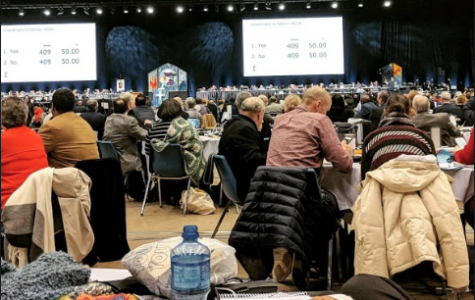 The General Conference of the United Methodist Church met on Feb. 23-26 in St. Louis, Missouri. It passed the Traditional Plan, which affirms the current policies of the church regarding inclusion of the LGBTQ community. Photo by Katie Dawson