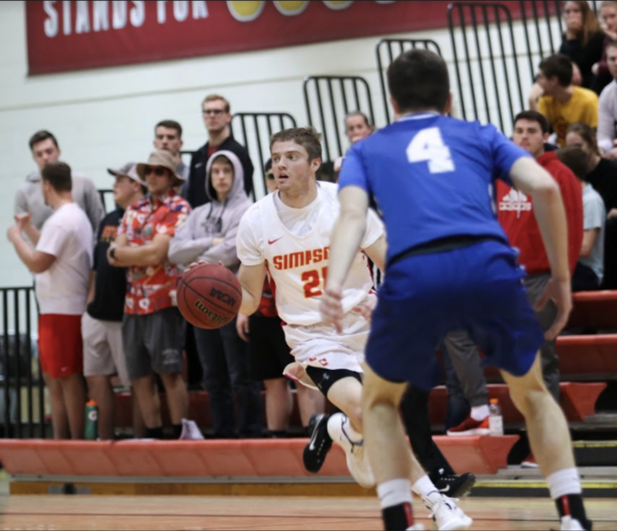 Junior Conor Riordan on the basketball court.