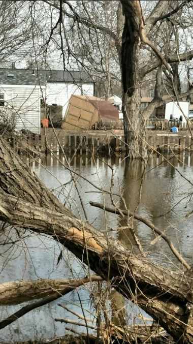 Photo+submitted+by+Paige+Bendt+%7C+Junior+psychology+and+philosophy+major+Paige+Bendt%E2%80%99s+home+in+Glenwood%2C+Iowa%2C+flooded.+Heavy+rain+and+fast+melting+has+caused+major+flooding+in+western+Iowa+and+Nebraska.+