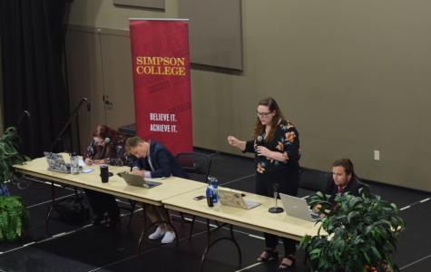 The Simpson debate team has a debate as part of First Amendment week.