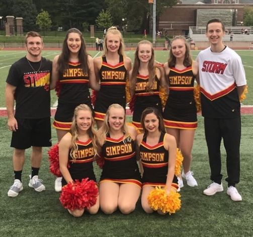 2019-2020 Simpson College dance team.