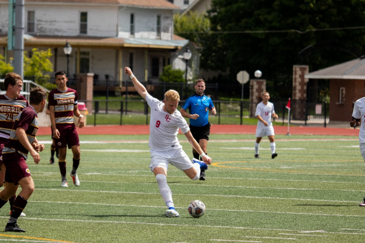 Tanner Alderson (pictured above) will help lead the Storm men's soccer team this season. Photo by Coby Berg
