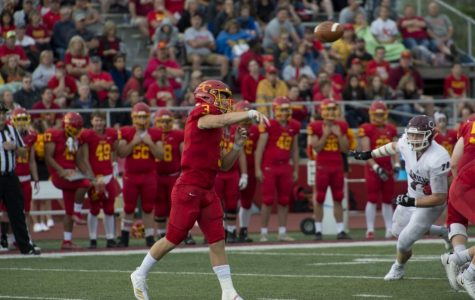 Simpson football picks up first win