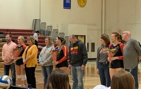 Volleyball seniors shine on Senior Night