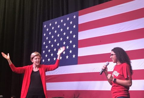 Elizabeth Warren speaks at Simpson
