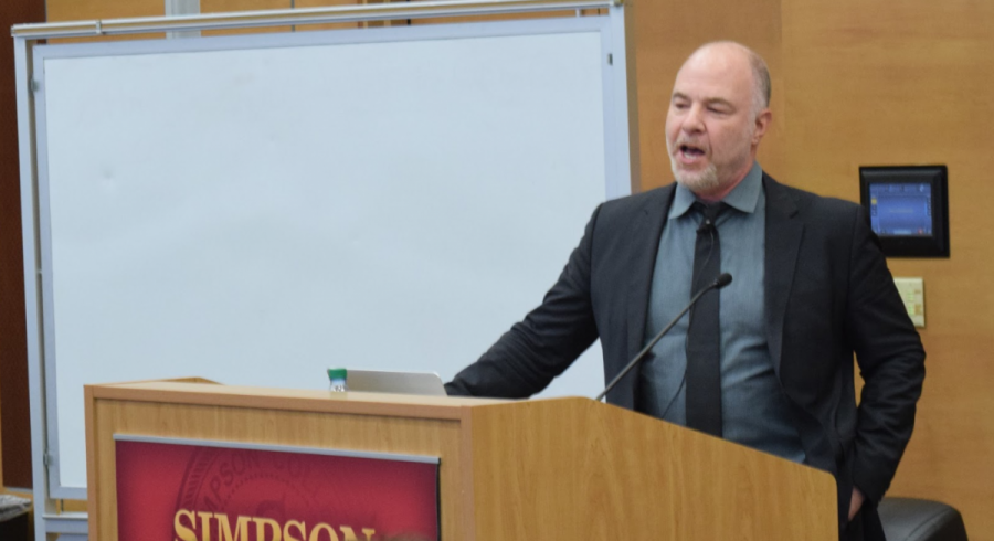 McBride speaker Jackson Katz speaks about gender violence