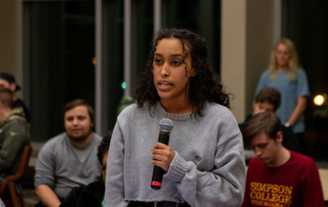 Simpson community speaks out at SGA meeting after racial and diversity incidents