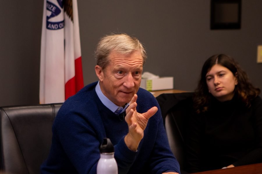Steyer visits Simpson College