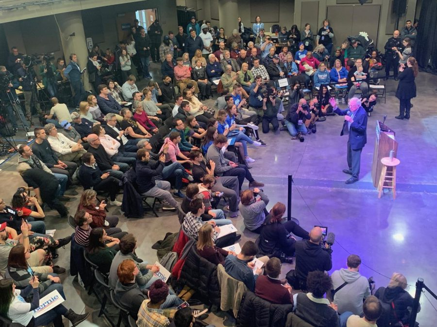 Bernie Sanders visits Indianola for a second time