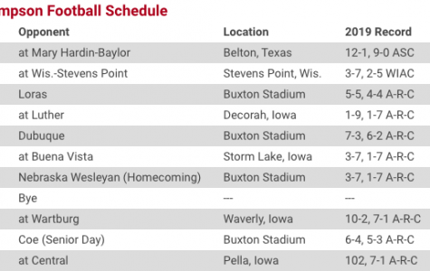 Screenshot taken from the Simpson athletics website.