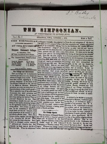 Clipping from the first edition of the Simpsonian.