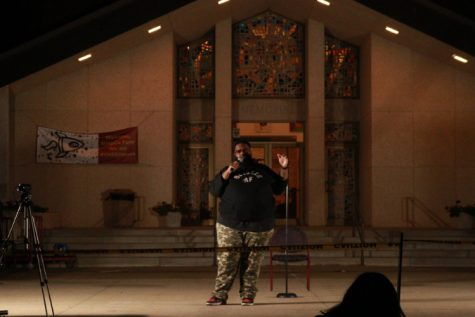 Comedian Ronnie Jordan performed in front of Smith Chapel on Monday night. He was the first of the CAB's lineup for the fall 2020 semester.