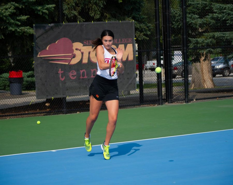 Women's tennis team aces opener in 9-0 win